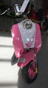 Scuter electric pentru copii NITRO ECO Retro 350W 24V 6.5 inch #Roz1