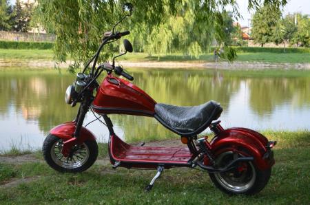 Scuter electric pentru adulti Solley SMD-U1 #RED Wine, 2000W putere, baterie 60V 20Ah, inmatriculabil [1]
