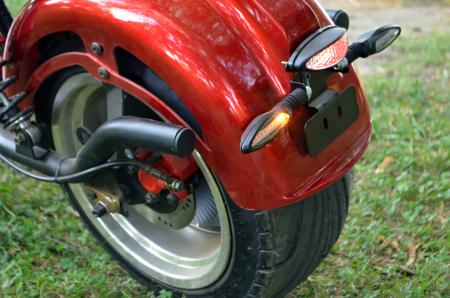 Scuter electric pentru adulti Solley SMD-U1 #RED Wine, 2000W putere, baterie 60V 20Ah, inmatriculabil [9]