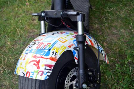 Scuter electric cu 3 roti Solley SMD-103 #Grafiti cu 2 locuri, putere 2000W, baterie 60V 20Ah [9]