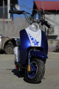 Scuter electric pentru copii NITRO ECO Retro 350W 24V 6.5 inch #Albastru1