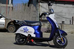 Scuter electric pentru copii NITRO ECO Retro 350W 24V 6.5 inch #Albastru2