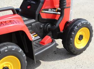 Tractoras electric BJ-611 cu remorca si telecomanda STANDARD #Rosu7