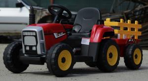 Tractoras electric BJ-611 cu remorca si telecomanda STANDARD #Rosu9