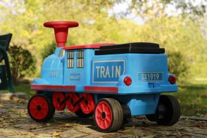 Trenulet electric pentru copii SX1919 90W 12V STANDARD #Albastru3