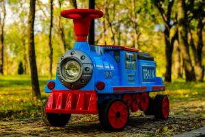 Trenulet electric pentru copii SX1919 90W 12V STANDARD #Albastru1