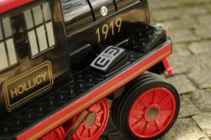 Trenulet electric pentru copii SX1919 90W 12V STANDARD #Rosu4