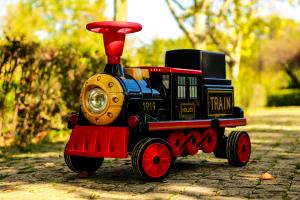 Trenulet electric pentru copii SX1919 90W 12V STANDARD #Rosu1