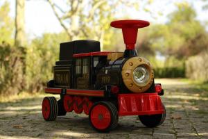 Trenulet electric pentru copii SX1919 90W 12V STANDARD #Rosu2