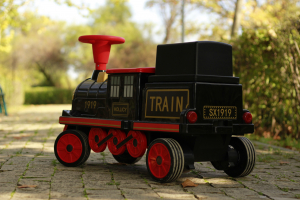 Trenulet electric pentru copii SX1919 90W 12V STANDARD #Rosu13