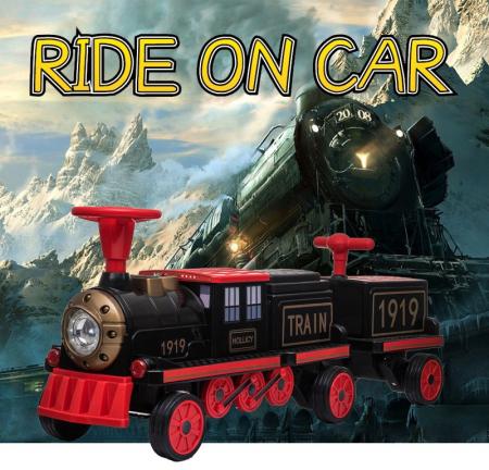 Trenulet electric cu vagon SX1919 12V 180W STANDARD #Rosu1