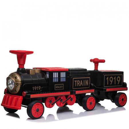 Trenulet electric cu vagon SX1919 12V 180W STANDARD #Rosu8