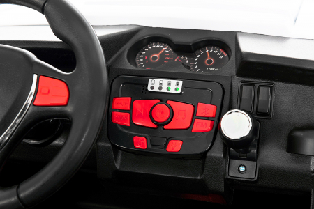 UTV electric pentru 2 copii Golf-Kart 210W 24V PREMIUM #Alb [1]