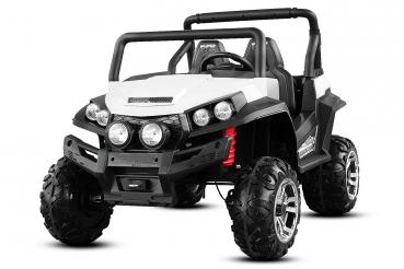 UTV electric pentru 2 copii Golf-Kart 210W 24V PREMIUM #Alb [0]
