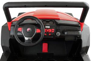 UTV electric pentru 2 copii Golf-Kart 210W 24V PREMIUM #Rosu2