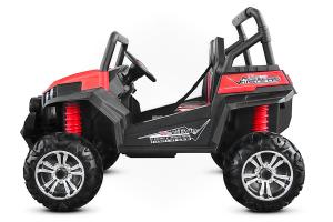 UTV electric pentru 2 copii Golf-Kart 210W 24V PREMIUM #Rosu4