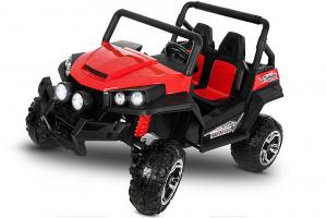 UTV electric pentru 2 copii Golf-Kart 210W 24V PREMIUM #Rosu1