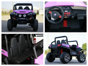 UTV electric pentru copii Golf-Kart 4x45W 2x12V PREMIUM #Roz6