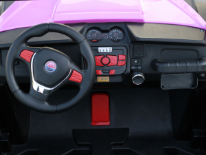 UTV electric pentru 2 copii Golf-Kart 210W 24V PREMIUM #Roz2