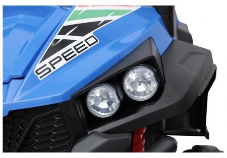 UTV electric pentru copii Golf-Kart S2588 180W PREMIUM #Albastru [8]