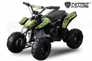 Mini ATV electric Pentru copii NITRO Eco Trio Quad 350W 24V #Verde0