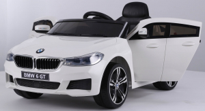 Masinuta electrica Bmw Seria 6 GT 60W 12V STANDARD #ALB [3]