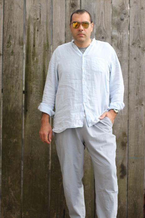 Pantaloni din panza topita pentru barbati [0]