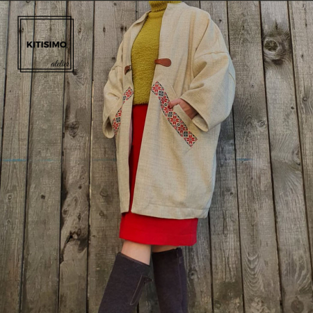 Palton din lana-model unicat [0]