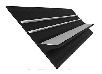 Banda antival 60 mm negru/gri 0
