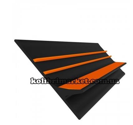 Banda antival 70 mm negru/portocaliu 0