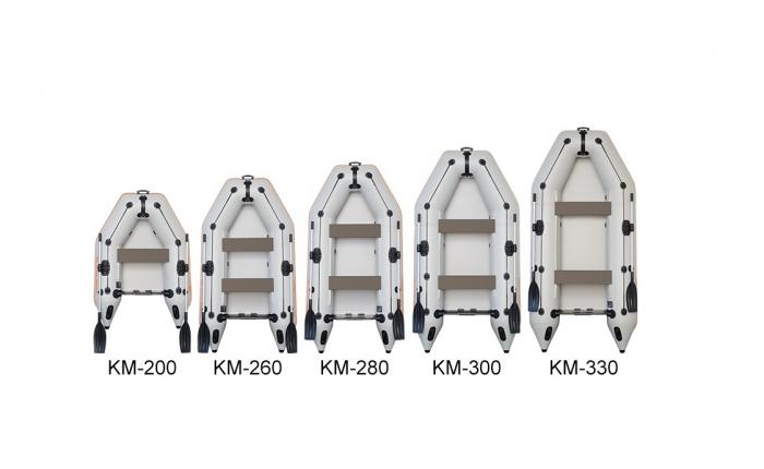 Barca Pneumatica KOLIBRI KM-280 + podină Tego 4