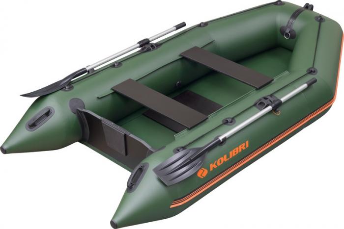 Barca Pneumatica KOLIBRI KM-300 + podină pliabilă semirigidă cu extindere 0