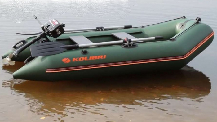 Barca Pneumatica KOLIBRI KM-300 + podină Tego 6