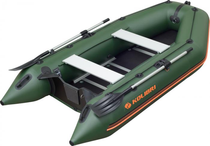 Barca Pneumatica KOLIBRI KM-300D + podina regidă tego, întarită cu profil de aluminiu 0