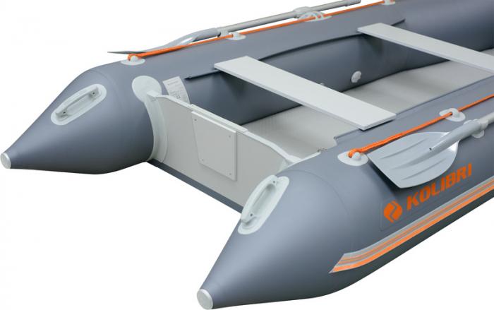 Barca Pneumatica KOLIBRI KM-330 + podină pliabilă semirigidă cu extindere 17