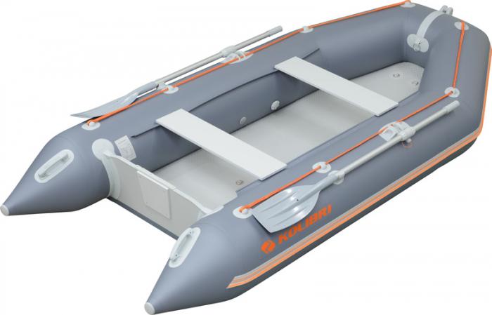 Barca Pneumatica KOLIBRI KM-330 + podină pliabilă semirigidă cu extindere 16