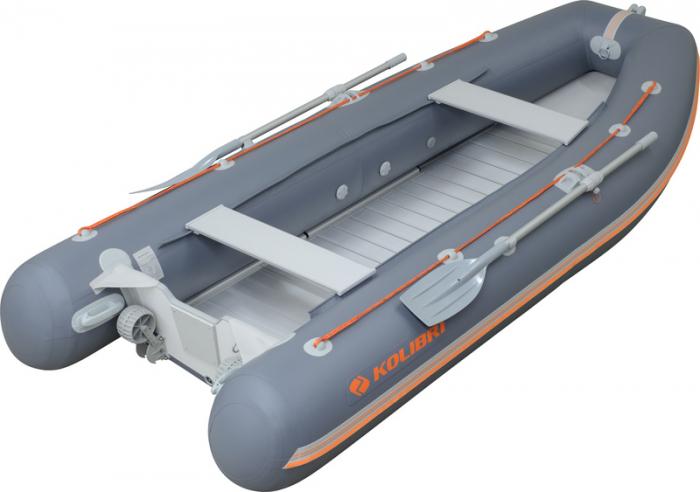 Barca KM-330DSL +podina regidă tego, întarită cu profil de aluminiu [0]