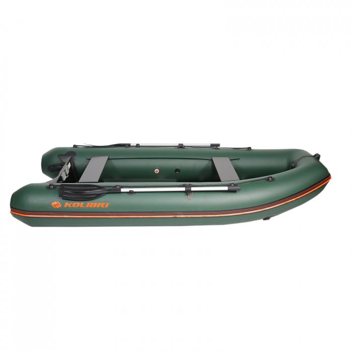 Barca Pneumatica KM-330DSL + podina regidă tego, întarită cu profil de aluminiu 1