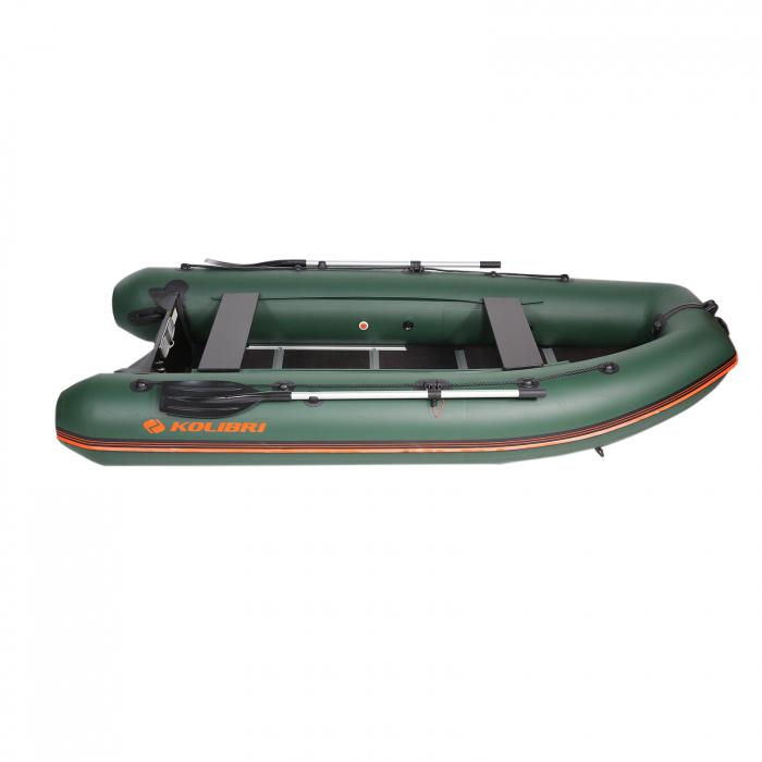 Barca Pneumatica KM-330DSL + podina regidă tego, întarită cu profil de aluminiu 6
