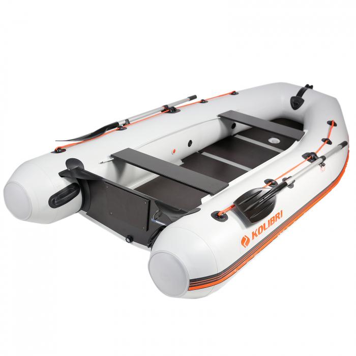 Barca Pneumatica KM-330DSL + podina regidă tego, întarită cu profil de aluminiu [0]