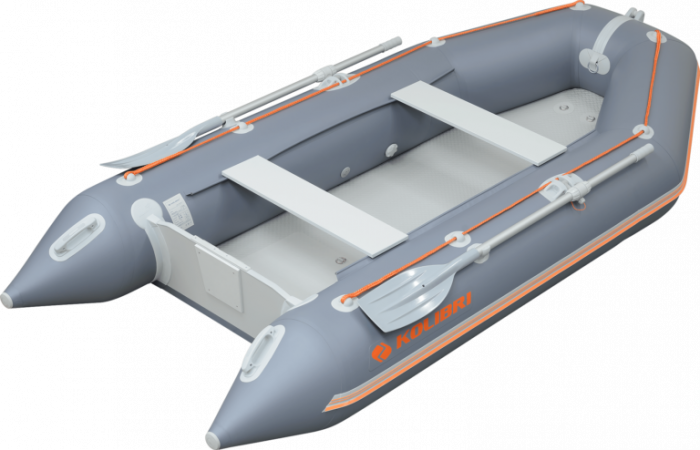 Barca KM-360D + podina rigidă tego, întarită cu profil de aluminiu 0