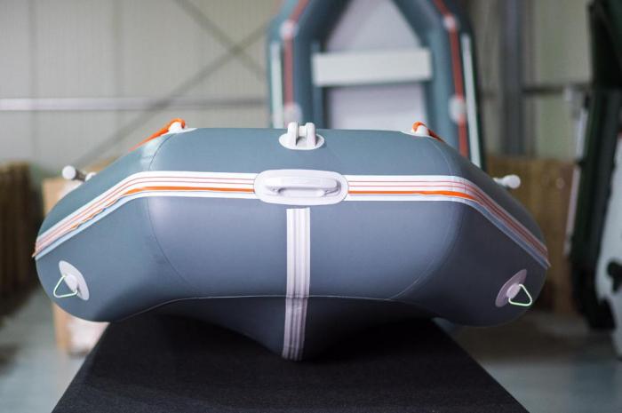 Barca KM-360D + podina rigidă tego, întarită cu profil de aluminiu 2