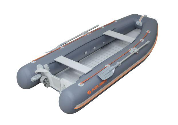 Barca KM-360DSL + podină aluminiu 0