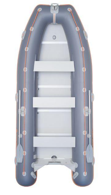 Barca KM-400DSL + podina rigidă tego, întarită cu profil de aluminiu 0