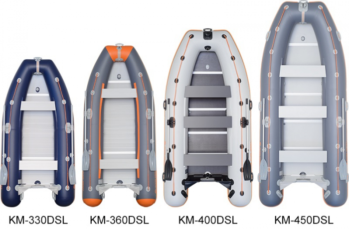 Barca Pneumatica KOLIBRI KM-450DSL + podina regidă tego, întarită cu profil de aluminiu 3