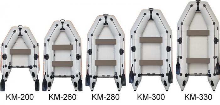Barca KM-245 + podină pliabilă semirigidă [6]