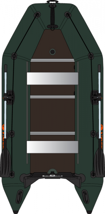 Barca Pneumatica KOLIBRI KM-300D + podina rigidă tego, întarită cu profil de aluminiu 1