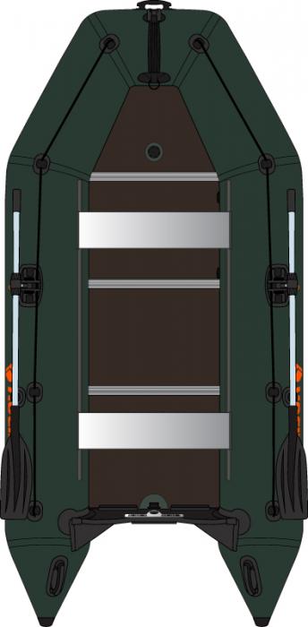 Barca Pneumatica KOLIBRI KM-330D + podina rigidă tego, întarită cu profil de aluminiu 1
