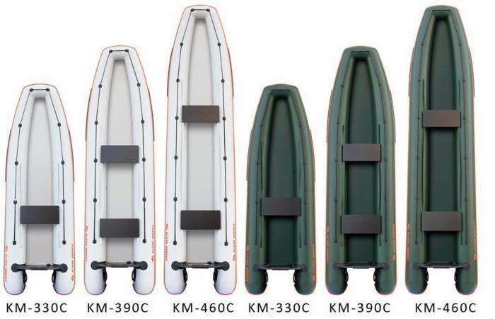 Canoe KM-460C + podină pliabilă semirigidă 5