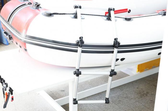 Scara aluminiu pliabila pentru barcă gonflabila FASTen BORIKA FLp032 + set Fmp225 [10]
